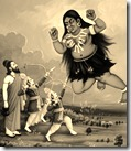 Lakshmana and Rama slaying Tataka