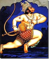 Hanuman jumping to Lanka