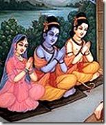 Lakshmana, Rama and Sita
