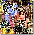 Krishna and Balarama stealing butter