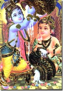 Krishna and Balarama stealing butter