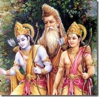 Vishvamitra with Rama and Lakshmana