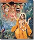 Lord Chaitanya worshiping