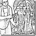 Worshiping Radha and Krishna