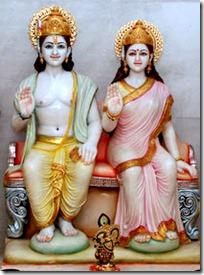 Sita and Rama deities
