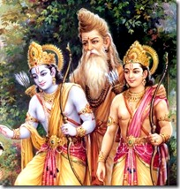 Lakshmana and Rama with Vishvamitra