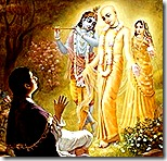 Lord Chaitanya revealing His identity