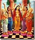 Lord Chaitanya and associates