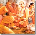Lord Chaitanya with associates