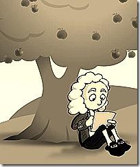 Newton under an apple tree