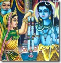 Shiva and Parvati's marriage