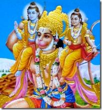 Lakshmana and Rama with Hanuman