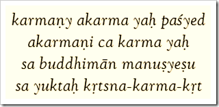 Bhagavad-gita, 4.18