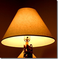 lamp with krishna