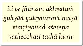 Bhagavad-gita, 18.63