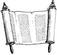 scroll with writing