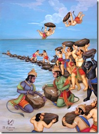 Sugriva and the Vanaras helping Rama