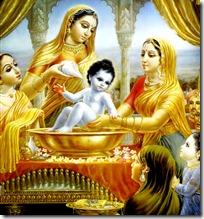 Lord Krishna's bathing ceremony