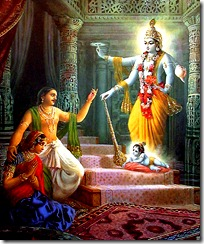 Krishna's birth in prison cell