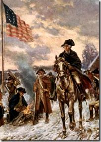 George Washington leading his army
