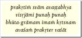 Bhagavad-gita, 9.8