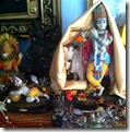 Altar for worshiping Krishna