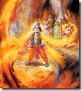 Krishna devouring forest fire
