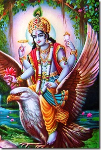 Vishnu with Garuda