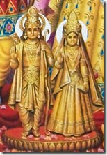 Sita and Rama deities