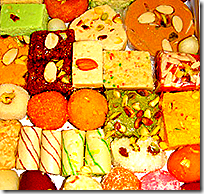 [Box of Indian sweets]