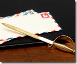 [Letter opener]