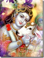[Lord Krishna with cow]