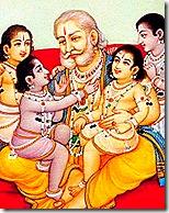 [King Dasharatha with children]