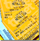 [Concert tickets]