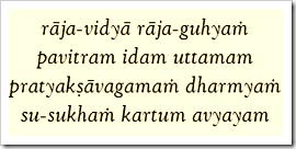 [Bhagavad-gita, 9.2]