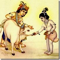 [Krishna and Balarama with cow]