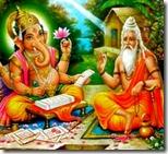 [Vyasadeva dictating to Ganesha]
