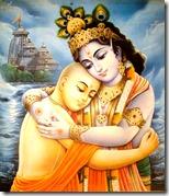 [Krishna hugging Lord Chaitanya]
