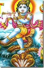 [Krishna on Kaliya serpent]