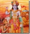 Krishna teaching Arjuna