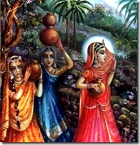 [gopis intercepted by Krishna]