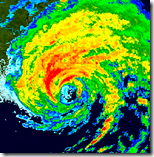 [hurricane on radar]
