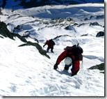 [climbing a mountain]