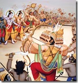 [Rama with army fighting against Ravana]