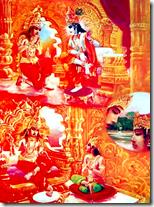 [Depicting disciplic succession, Bhagavad-gita As It Is]