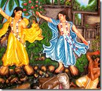 [Nityananda Prabhu saving Jagai and Madhai]