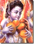 [Krishna with fruit]