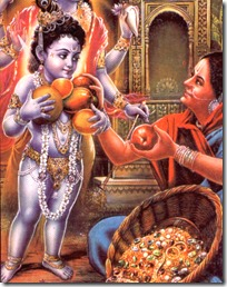 [Krishna with fruit vendor]