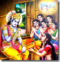 [Krishna with the Pandavas]