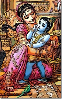 [Krishna being tied to a mortar]